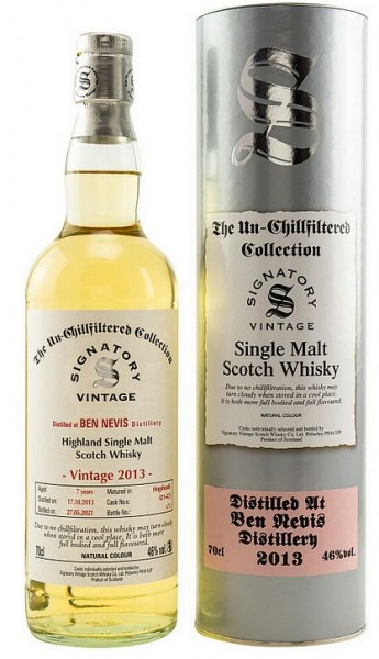 Ben Nevis 2013/2021 Signatory Single Malt Whisky