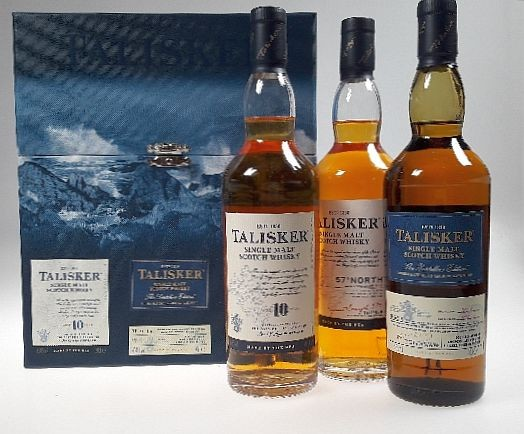 Talisker 3er Set je 0,2l Single Malt Isle of Skye Whisky