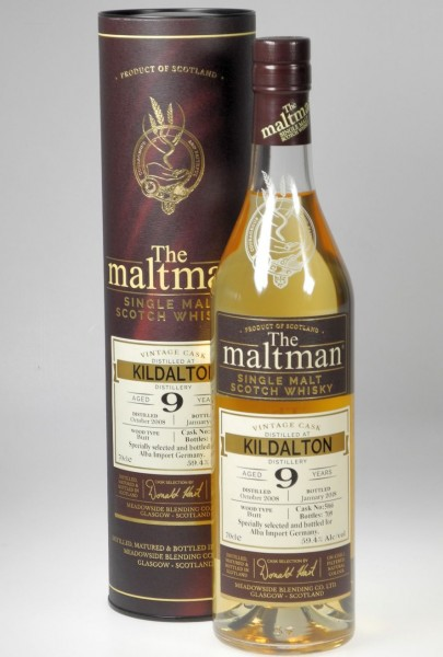 Kildalton 9years Maltman unpeated Whisky cask 5066- bottled 2018