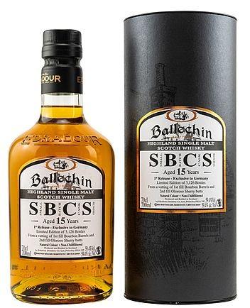 Edradour 15years Ballechin SBCS matured Single Malt