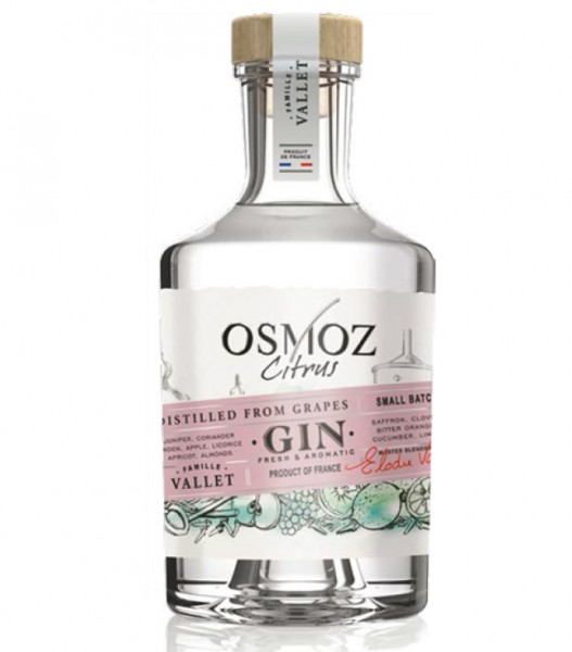 Osmoz Citrus Gin distilled from Grapes